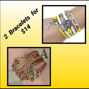 Jewelry - 2 Multilayer Bracelets for $14 ,Brown & Yellow